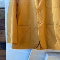 60's Deadstock Yellow Canvas Blazer - Large