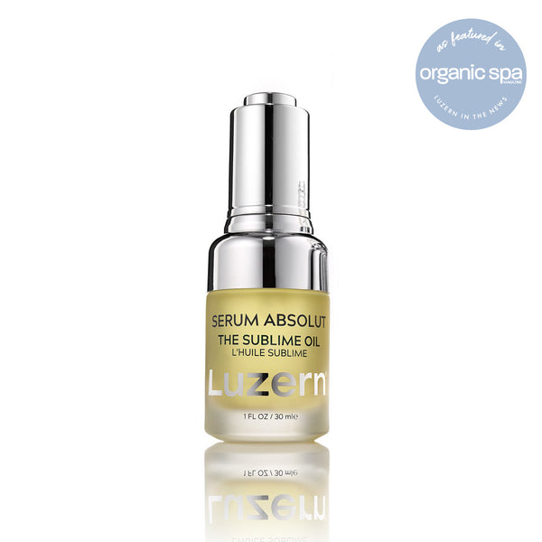 Serum Absolut The Sublime Oil product shot with Organic Spa magazine call out