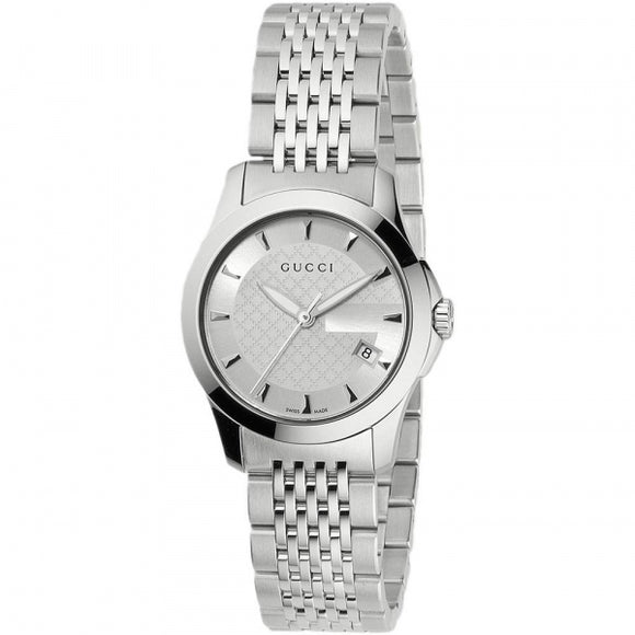 Gucci Women's G-Timeless Stainless-Steel Bracelet Watch 27mm YA126501