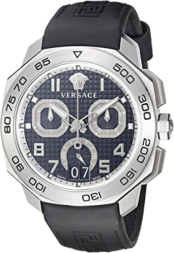 Versace Men's Dylos Black Quartz Watch VQC010015