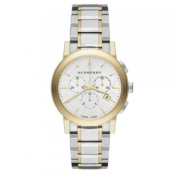 BURBERRY THE CITY GOLD STAINLESS STEEL BU9751 MENS CHRONOGRAPH WATCH