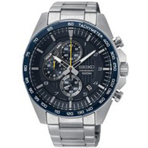 Seiko Mens Chronograph Quartz Watch with Stainless Steel Strap SSB321P1