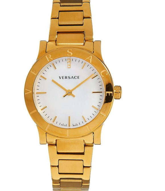 VERSACE  Gold Tone Acron Watch