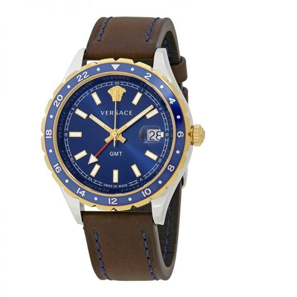 Hellenyium Blue Dial Men's Leather Watch V11080017
