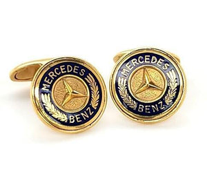 Vintage 14K Gold Mercedes Benz Cufflinks - Peters Vaults