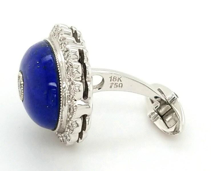 Luxurious Handcrafted Diamond and Lapis Lazuli Cufflinks - Peters Vaults