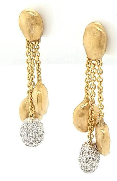 Marco Bicego Siviglia Collection Diamond Earrings in 18K gold - Peters Vaults