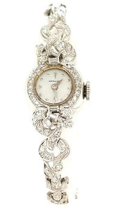 Elegant Hamilton Women's Vintage Diamond Watch in 14K Gold - Peters Vaults