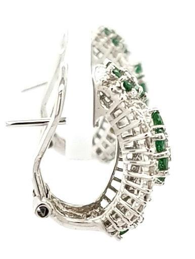 Exquisite Apple Green Tsavorite Garnet and Diamond Earrings in 14K Gold- Peters Vaults