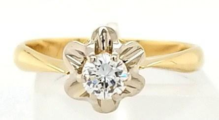 Exquisite Vintage Diamond Engagement Solitaire Ring in 18K Gold - Peters Vaults