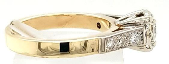 Vintage two-tone Diamond Engagement Ring in 18K Gold - Peters Vaults