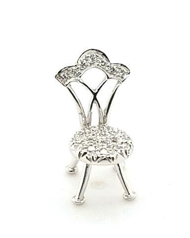 Whimsical Chair Diamond Pendant in 18K Gold - Peters Vaults