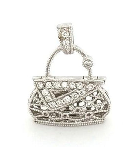 Charming Pave Set Diamond Purse in 18K Gold- Peters Vaults