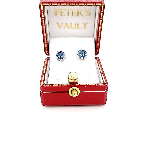 Exquisite Ceylon Sapphire Studs in 14K Gold at an Exceptional Price - Peters Vaults