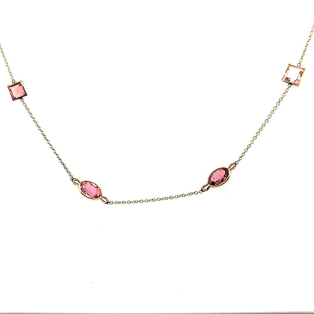 Exquisite Tourmalines by the Yard Necklace in 14K - Peters Vaults