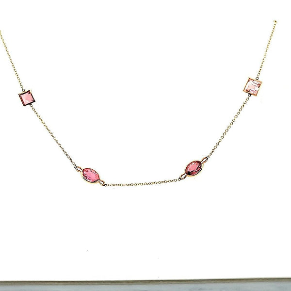 Exquisite Tourmalines by the Yard Necklace in 14K
