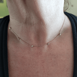 Delicate Diamonds by the Yard Necklace