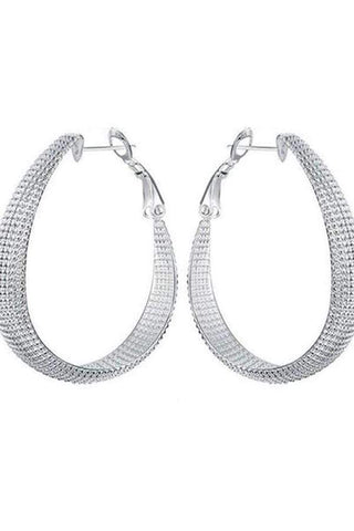 Sheinnow Metal Circle Chic Earrings