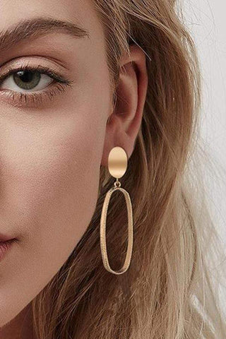 Sheinnow New Fashion Earrings Female Personality Temperament Big Earrings Net Red Long Earrings
