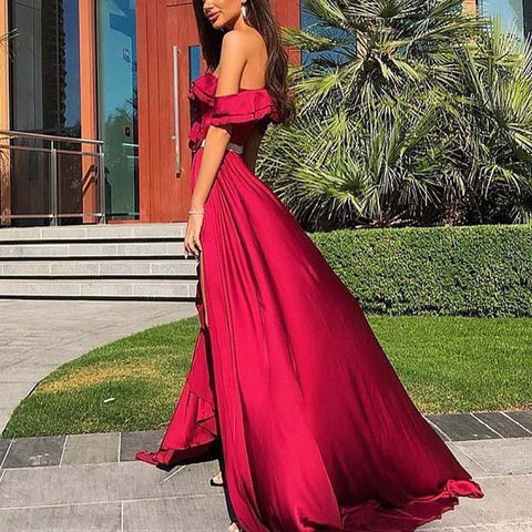 Sheinnow One-Shoulder Ruffled Evening Gown(Video)