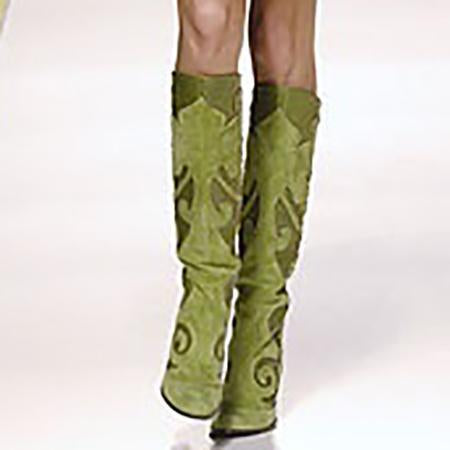Sheinnow Pointed Thick With Side Zipper Over The Knee Boots