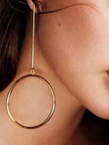 Sheinnow Fashion Geometry Circle Earrings