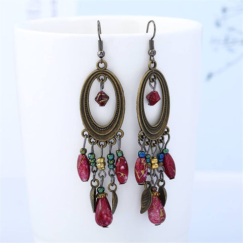 Sheinnow Fashion Retro Long Geometric Earrings