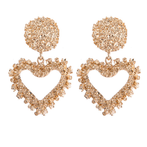 Fashion creative ladies heart-shaped earrings