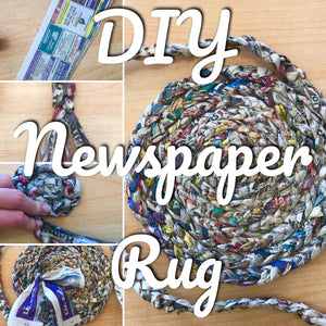 DIY Newspaper Rug