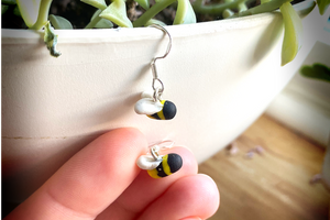Tiny Bee's - Handmade Polymer Clay Earrings - Perfect Mothers Day Gift