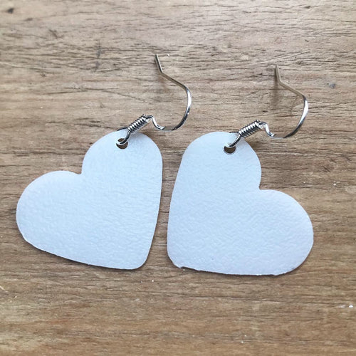Recycled Heart Earrings