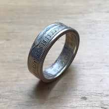 Silver One Shilling Coin Ring - Made to Order - 50% Silver - Shwen Design Uk