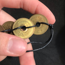 Japanese Coin Bracelet on Black cord