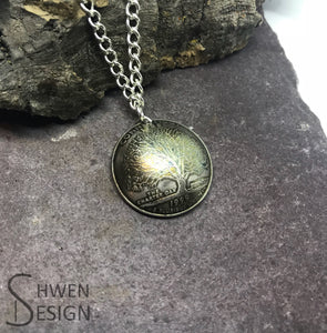 State Quarter Dome Necklace- Made to Order - Choose your State - Shwen Design Uk