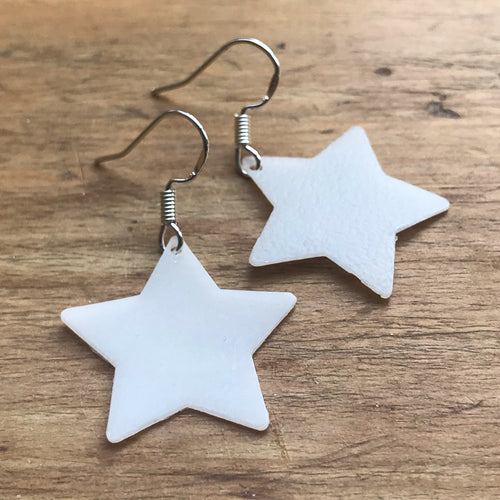 Recycled Star Earrings