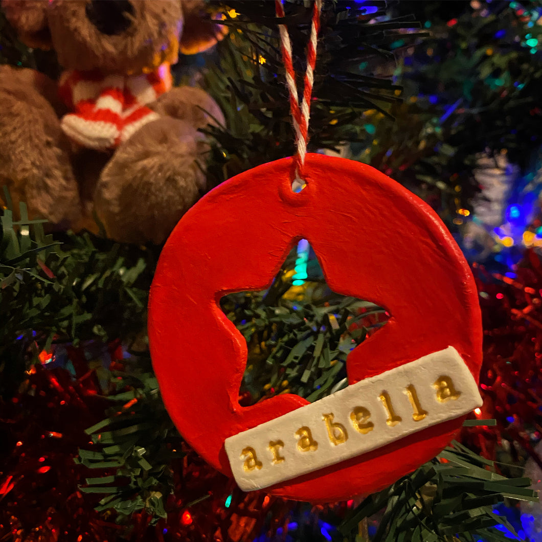 Rustic Personalised Tree Decorations