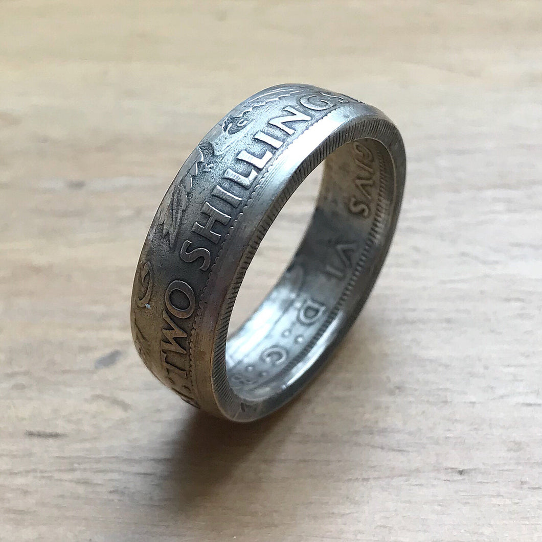 Two Shilling Coin Ring - Shwen Design Uk