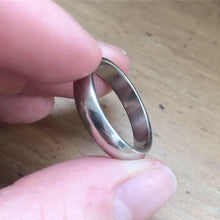 Simple Silver Ring Band