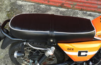 Ace Scrambler Seat with White Piping