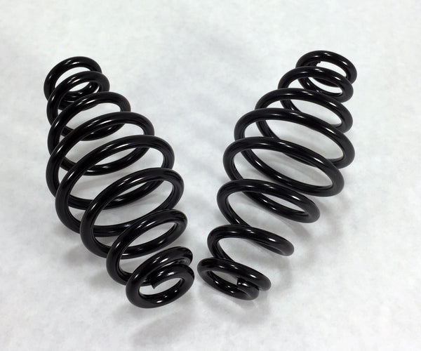 "Vintage Seat Springs 4"" Black and Chrome"