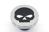 Skull Gas Cap by Wyatt Gatling - Chrome