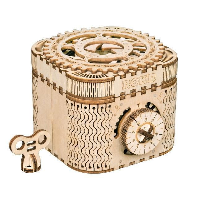 Beiby Bamboo 3D Building Kits Creative DIY 3D  Wooden Puzzle - Treasure box
