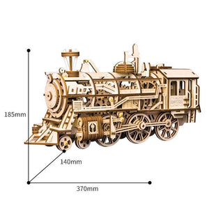 Beiby Bamboo 3D Building Kits Locomotive DIY 3D Mechanical Model Building Kit(Locomotive)