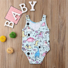 Load image into Gallery viewer, Beiby Bamboo baby swimsuit A 70 Summer Baby Girls One-piece Unicorn Print Swimsuit