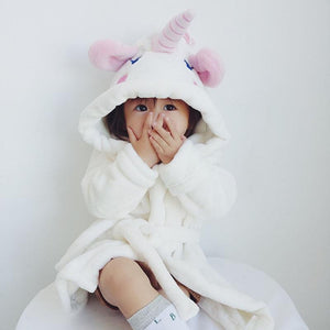 Beiby Bamboo bathrobe Unicorn / 2T Unicorn Bathrobe For Girls