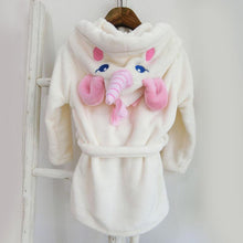 Load image into Gallery viewer, Beiby Bamboo bathrobe Unicorn / 2T Unicorn Bathrobe For Girls