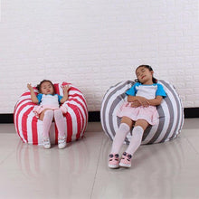 Load image into Gallery viewer, Beiby Bamboo bean bag Diameter  260CM / Blue Stripes Stuffed Animal Storage Bean Bag