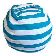 Load image into Gallery viewer, Beiby Bamboo bean bag Diameter  260CM / Light Blue Stripes Stuffed Animal Storage Bean Bag