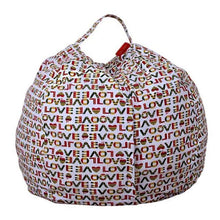 Load image into Gallery viewer, Beiby Bamboo bean bag Diameter  260CM / Love Stuffed Animal Storage Bean Bag