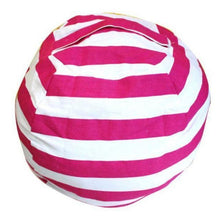 Load image into Gallery viewer, Beiby Bamboo bean bag Diameter  260CM / Pink Stripes Stuffed Animal Storage Bean Bag